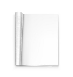 Open paper journal on white background vector