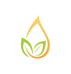 Organic leaf droplet logo vector