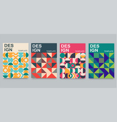 postmodern geometric patterns for posters vector image