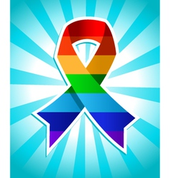 Rainbow Pride Ribbon vector