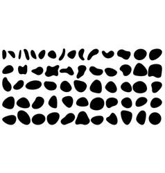Random blotch inkblot organic blob blot vector