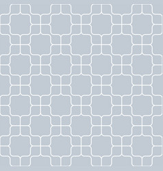 Seamless geometric pattern vintage curved on gray vector