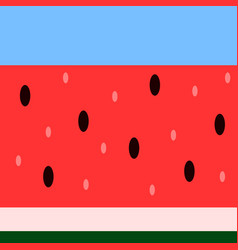 seamless horizontal watermelon pattern vector image