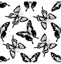 seamless pattern with black and white purple vector image