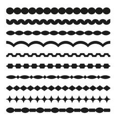 Set of borders art dividers in geometrical style vector