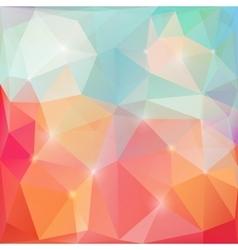 Shining triangles poligonal vector image