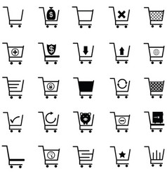 shopping car icon set vector image