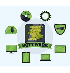 Software design vector image