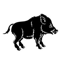 stylized boar vector image