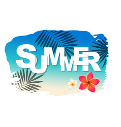 summer text with blot vector image