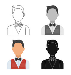 The man in a suit the croupier the person who vector