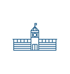 town hall line icon concept town hall flat vector image