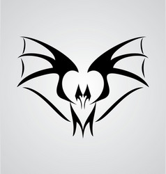 Tribal Bat vector image