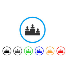 user rating levels rounded icon vector image