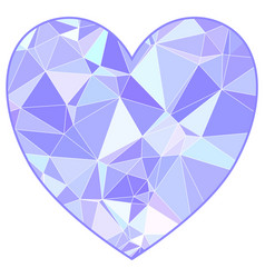 valentines triangulated heart in low poly style vector image