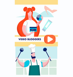 video bloggers online workshops flyer template vector image