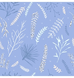 Winter branch pattern vector image