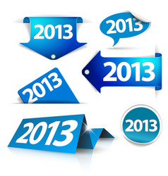 2013 Labels stickers pointers tags vector image
