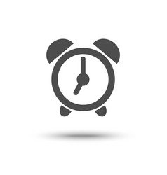 alarm clock iconl isolated vector image vector image