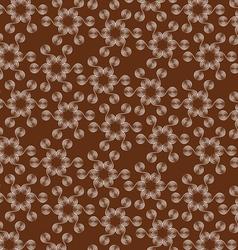 flower seamless pattern vector image