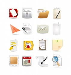 paper icon set vector image vector image
