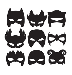 Super hero masks for face character in black vector