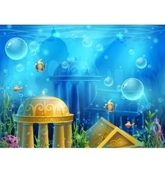 Atlantis ruins - background vector image