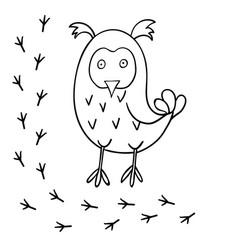 Cute cartoon owl vector