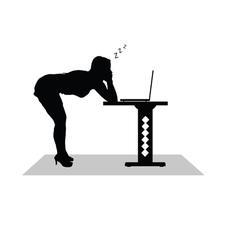 girl sleep at the computer vector image vector image