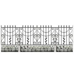 Seamless metale fence design vector