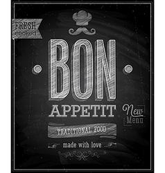 bon appetit chalk vector image vector image