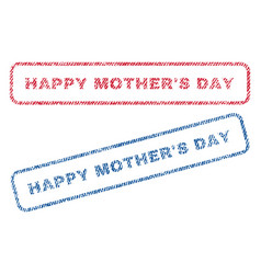 happy mother s day textile stamps vector image