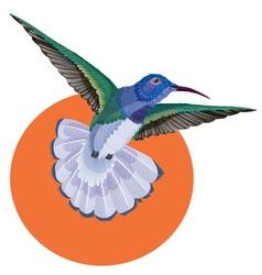 Hummingbird tattoo watercolor painting vector image vector image