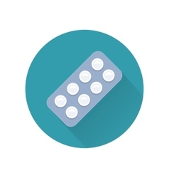 Pills In Flat Style Design vector image vector image