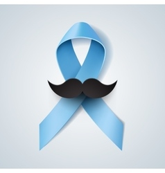 Prostate cancer ribbon awareness vector image vector image