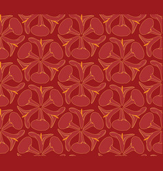 Abstract oriental floral seamless pattern flower vector