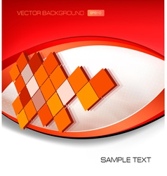 abstract red background with mosaic vector image