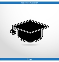 Academic cap web icon vector
