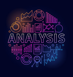 Analysis colorful vector