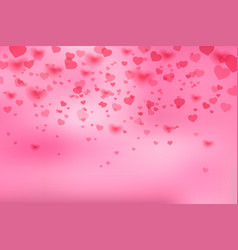 background with falling hearts vector image