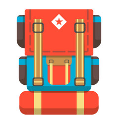 big travel backpack icon vector image