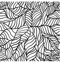 black and white pattern with abstract waves vector image
