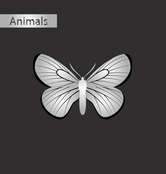 black and white style icon of butterfly vector image
