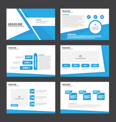 Blue presentation templates Infographic elements vector