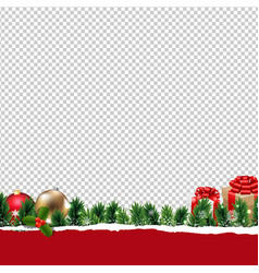 Border with gift box transparent background vector