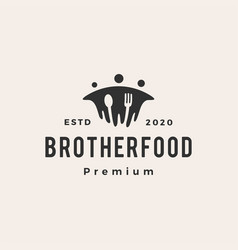 Brother beef hipster vintage logo icon vector