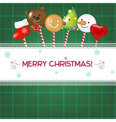 Christmas Card With Candies vector