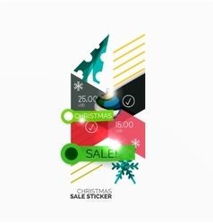 Christmas sale stickers and labels vector image