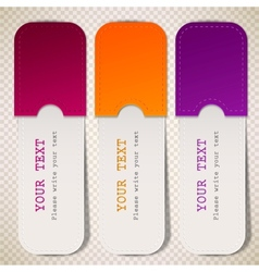 Colorful bookmarks with place for text vector image