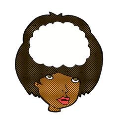 comic cartoon empty headed woman vector image